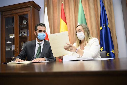Alcalde Almería Consejera junta