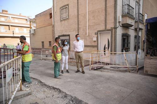 Almería obras calle Lugano