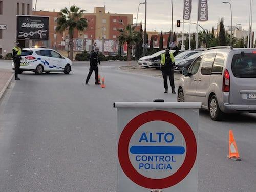Almería controles policía COVID