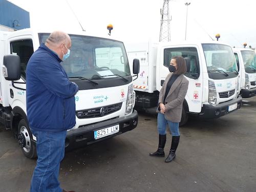 Almería limpieza vehículos recolectores