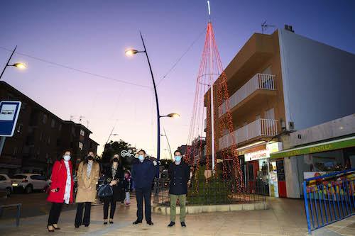 Almería alumbrado Navideño barrios