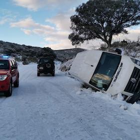 Rescate bomberos Almería nieve