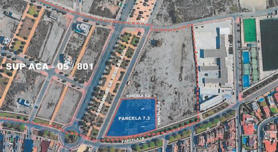 Almería parcela concesión demanial