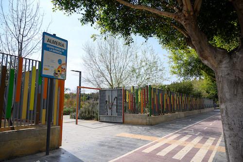 Almería parque familias Covid