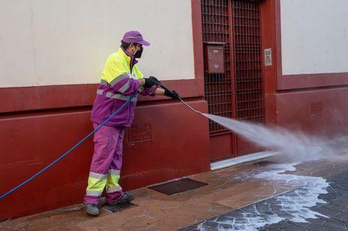 Ayuntamiento Almería limpieza intensiva