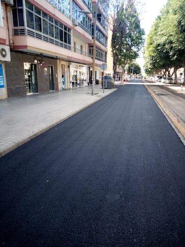 Almería asfaltado Avda. Mediterráneo