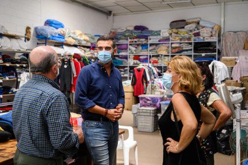 Visita alcalde Caritas Almería