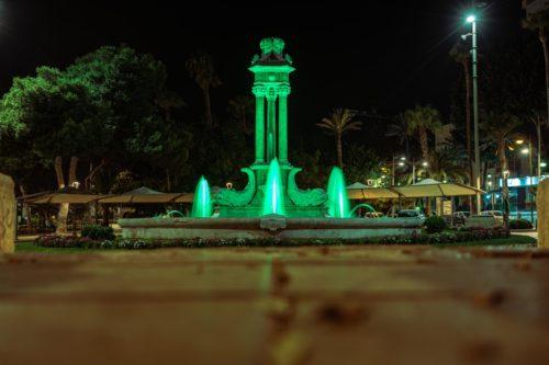 Iluminación solidaria fuentes Almería